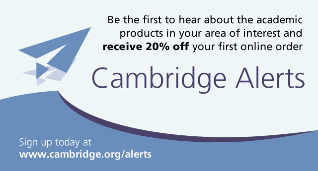Sign up for Cambridge Alerts